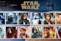 GB's Star Wars stamps and related souvenirs / Royal Mail's Star Wars stamps, issued on 20 October 2015.