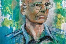 Portret / portret kunstenaar Harrie Visser maakt portretten in opdracht. formaat, kleur, stijl, techniek in overleg. Voor info harrievisser45@gmail.com