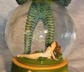 Snow globes / I always bring my grandson back a snowglobe! / by Jackie Haag
