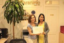 Zhanel (alumnas de Kazajistán). Cursos de español para extranjeros en Madrid. / Muchas gracias a Zhanel y a sus alumnas de Kazajistán por estos días que hemos compartido en Madrid, por supuesto felicidades también a las profesoras.