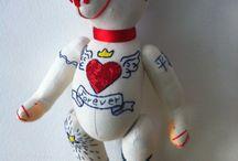 Teddy Bears Tattoo Collection / Embroided Teddy Bears, by GSBears, Barcelona