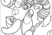 Kung Fu Panda: Disegni da Colorare