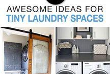Tiny laundry storage