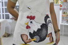 Delantal de cocina / Delantal de cocina patchwork