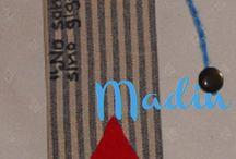 MARCA PÁGINAS o PUNTO DE LIBRO DE MADIN / MARCA PÁGINAS o PUNTO DE LIBRO