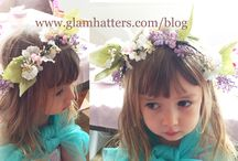 How To Make Flower Crowns with Glam Hatter Girl.