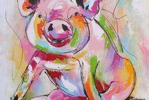 Gekleurde Varkens