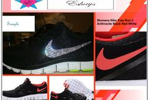 Rhinestone Running Shoes / Listed are various Nike Running Shoes most of them are custom rhinestone running fitness shoes like Nike Glitter Kicks, Nike Free Run, Rhinestone Nike Roshe Runs, Rhinestone Lunarglides, Custom Nike Running shoes made by Eshays others maybe made by other designers BUT we can also produce the same design upon request. #nikefreefun #rhinestone #bling #rhinestonefreefun #runningshoes #rhinestonerunningshoes #custom #customized