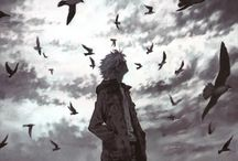 black&white anime art