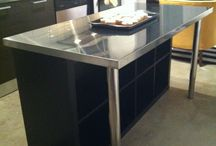 DIY Kitchen Islands / Clever ideas - Kitchen Islands made from DRAWERS / CABINETS / BOOK SHELVES ETC
