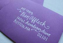 Addressing Envelopes / by Julie Schmale