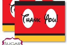 Mickey Mouse Thank You Notes