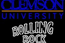 Rolling Rock with University Neon Signs