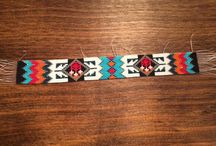 Native American Style Beaded Strip Handmade