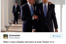 Presidential hilarity