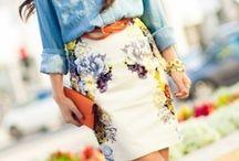 Blomsterskjørt