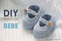 zapatos de bebe tejidos