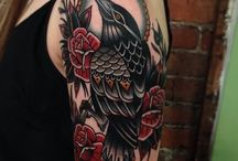 Old School Crow Tattoo