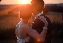 romantic sunset photo