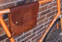 Bicycle leather frame bag Bikegab