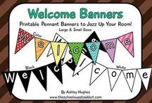 welcome display school