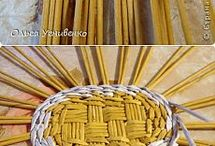 Woven baskets and mats