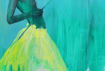 Parmi les plus beaux tableaux il y a ceux de ma copine Lulu... En voila quelques uns!