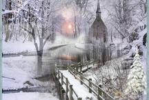 Churches in snow