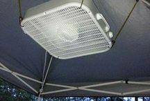 Canopy fan for deck