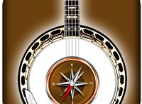 """BanjoChordsCompass / Find the perfect chord voicing for your songs on the banjo! Thanks to a specially developed algorithm, the app will show you chord diagrams with all possible options in all 11 positions of the fretboard. Simply select a chord root on the left, chord type in the middle, the chord type addition on the right, and explore the chords with """"Banjo Chords Compass""""!"""