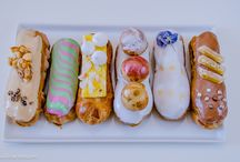 Modern Eclairs  / a variety of the modern take on the French classic eclair