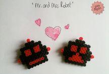 pinandpindesign.mr&mrs.robots / mr.&mrs. robots, hama.pins