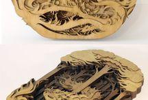wood cutout