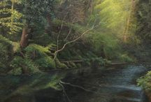 Jamie / North East Art Collectives Newest and youngest Artist produces Original Oil paintings of Jesmond Dene