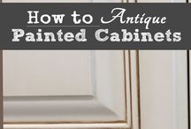 Antiquing kitchen cabinets