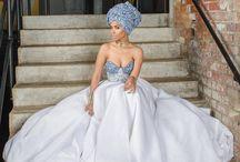 Seshweshwe wedding dress