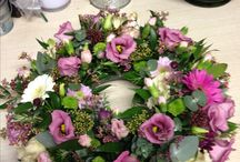 Funeral flowers by Wendy B