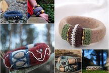 DIY felted jewelry