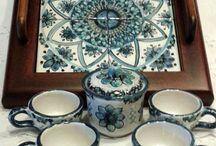 Servizio da caffè per 4, con vassoio in legno e ripiano in ceramica., 45,00 € su misshobby.com