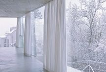 Curtain's and fabric wall