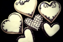 white and black cookies