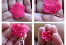 keçe çiçek yapimi