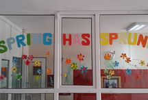 Spring decorations at our school