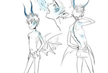 Jack Frost AU: Ice Dragon