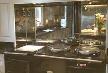Antique toughened mirror splashbacks