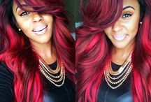 Color hair / I love red
