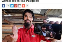 Aloysius Taidin looks like Manny Pacquiao / That's because rubber tapper Aloysius Taidin, 43, can pass off for the real Manny Pacquiao with his hairdo, beard and smile