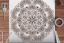 Mandala stencils