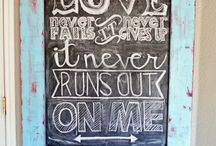 Chalk board ideas first birthdays