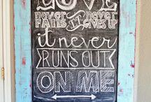 Chalkboard signs / by Kim Fink